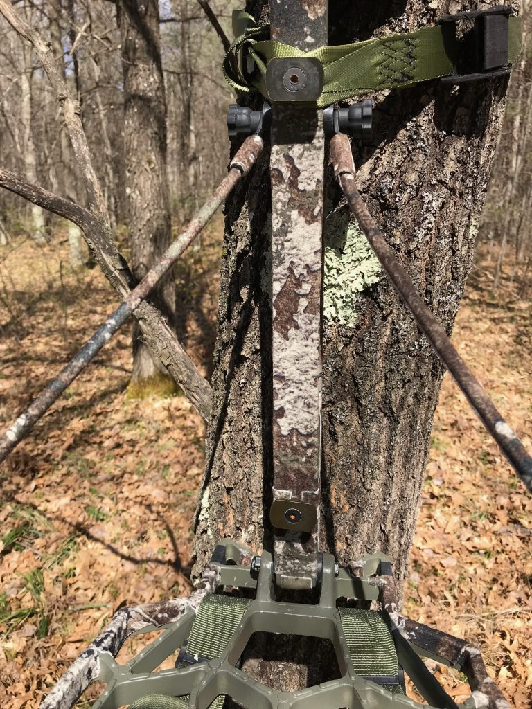 Close up of treestand silencing kit