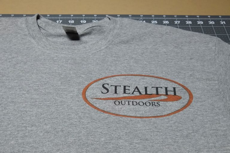 Stealth Outdoors Logo T-Shirt - Medium with logo on left chest