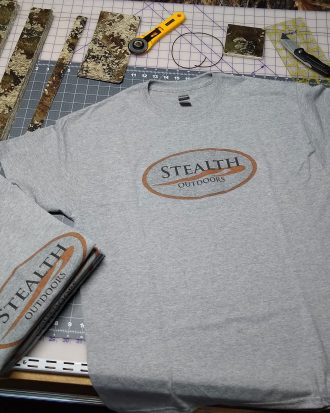 Stealth Outdoors Gray Logo T-Shirt
